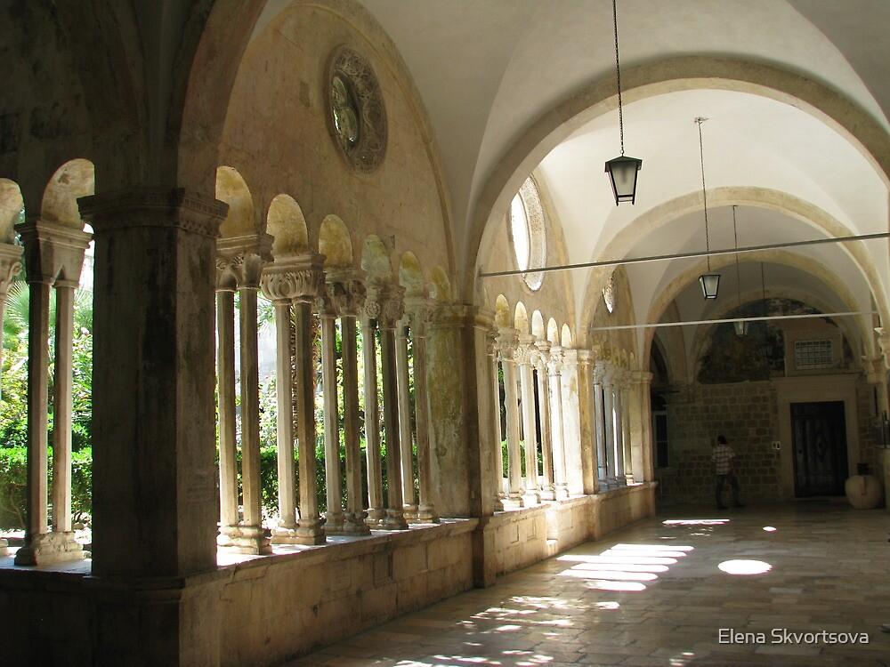 Franciscan Monastery Arcades by Elena Skvortsova