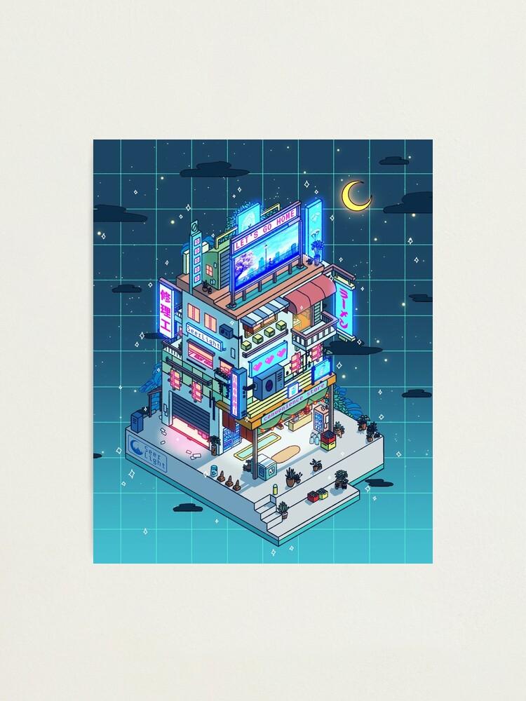 Alternate view of Corner Store Night Photographic Print