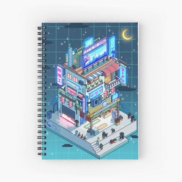Corner Store Night Spiral Notebook