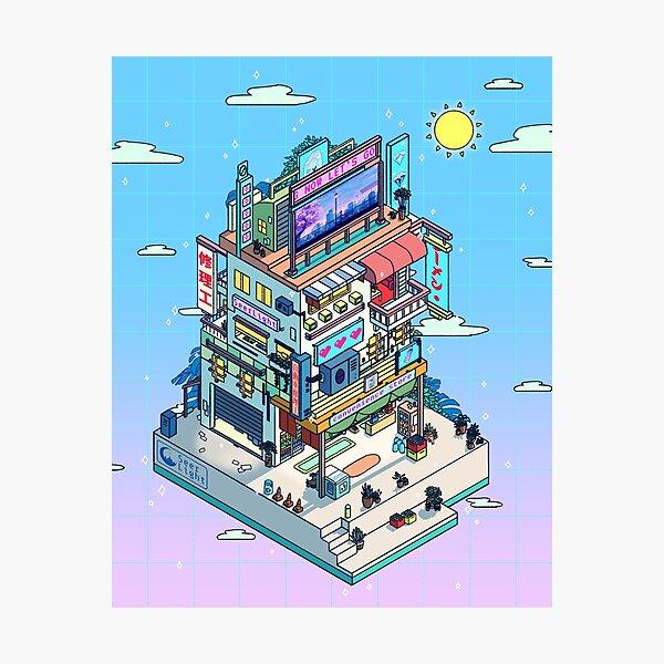 Corner Store Day Photographic Print