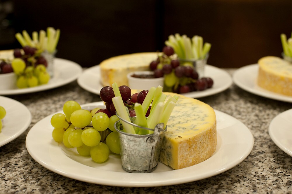 Stilton and Grapes by Skye Hohmann