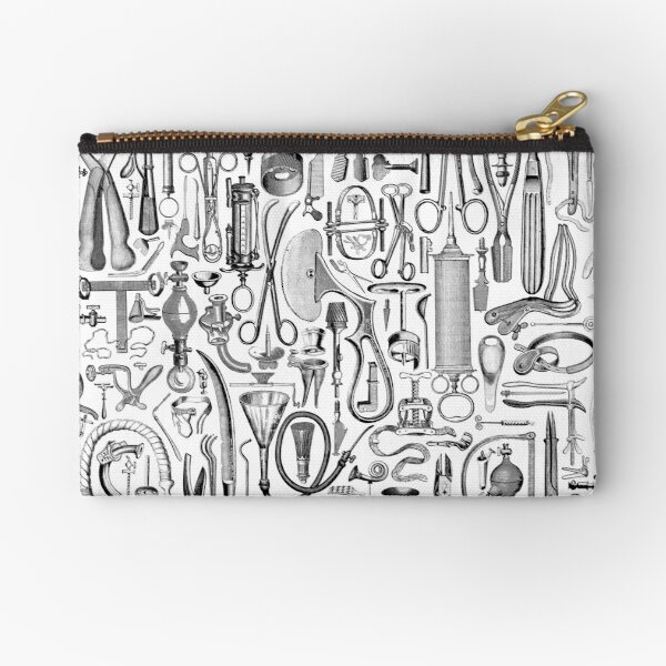 Medical Condition B&W Zipper Pouch