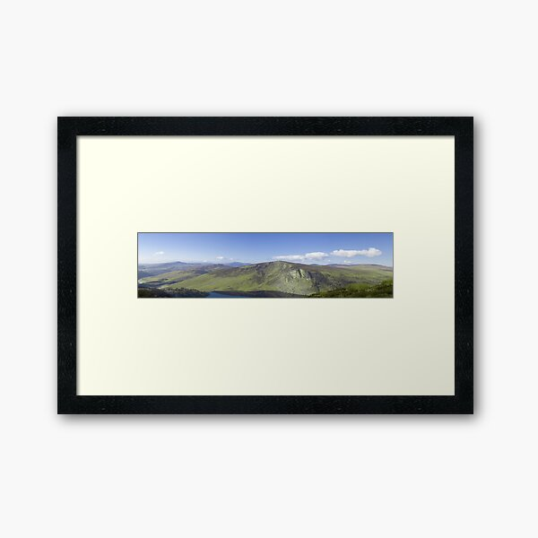 Wicklow Mountains, Ireland - Panoramic  Framed Art Print