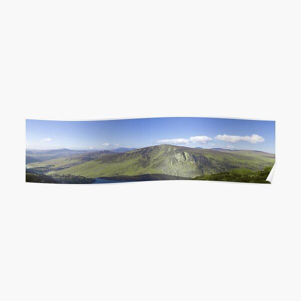 Wicklow Mountains, Ireland - Panoramic  Poster