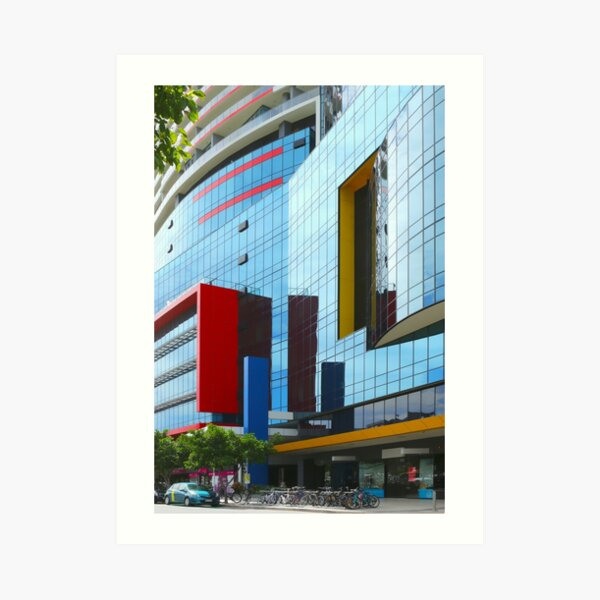 The colours red, blue and yellow Art Print