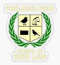 Philadelphia School of Bird Law (dark color shirts) Transparent Sticker