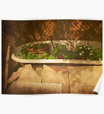 The Courtyard IV _ (Mangiacake Panini Shoppe) Poster