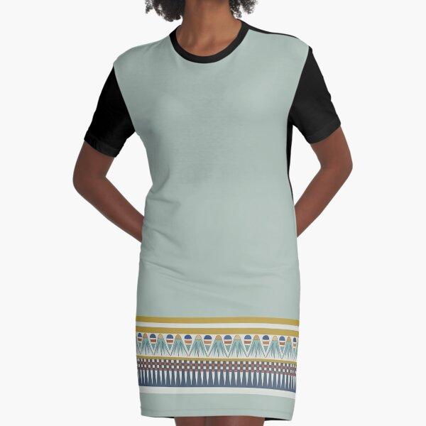 Lotus blossom border of Pairy Graphic T-Shirt Dress