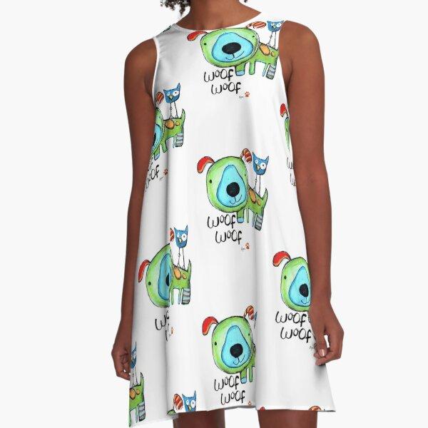Woof Woof! A-Line Dress
