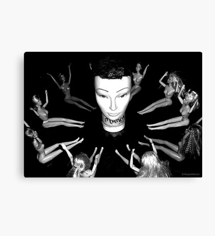 Mandy the Giant Head and her Minions Canvas Print
