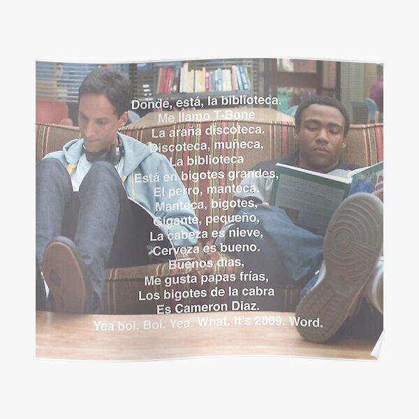 Spanish 101 Rap- Community Poster