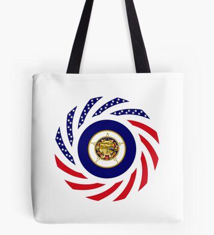 Minnesota Murican Patriot Flag Series Tote Bag