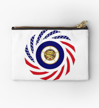 Minnesota Murican Patriot Flag Series Zipper Pouch
