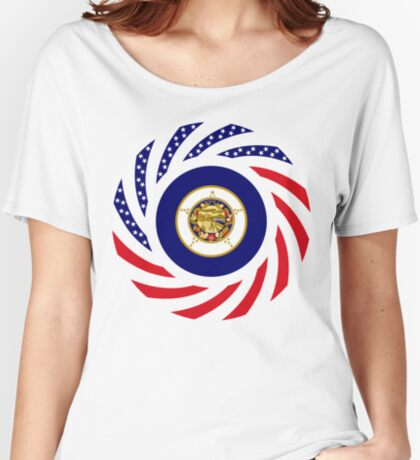 Minnesota Murican Patriot Flag Series Relaxed Fit T-Shirt