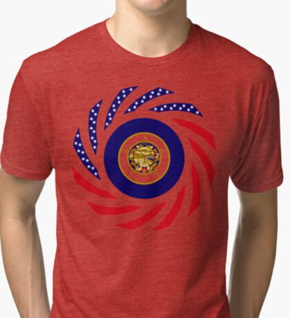 Minnesota Murican Patriot Flag Series Tri-blend T-Shirt