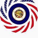 Minnesota Murican Patriot Flag Series by Carbon-Fibre Media