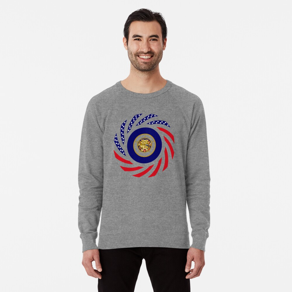 Minnesota Murican Patriot Flag Series Lightweight Sweatshirt
