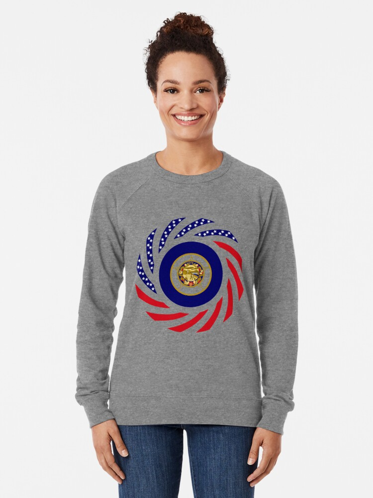 Alternate view of Minnesota Murican Patriot Flag Series Lightweight Sweatshirt