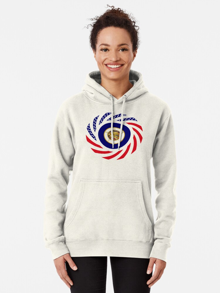 Alternate view of Minnesota Murican Patriot Flag Series Pullover Hoodie