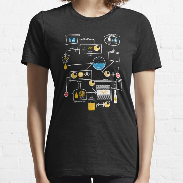 Beer Brewing Schematic | Brewer Brewery Gift Essential T-Shirt