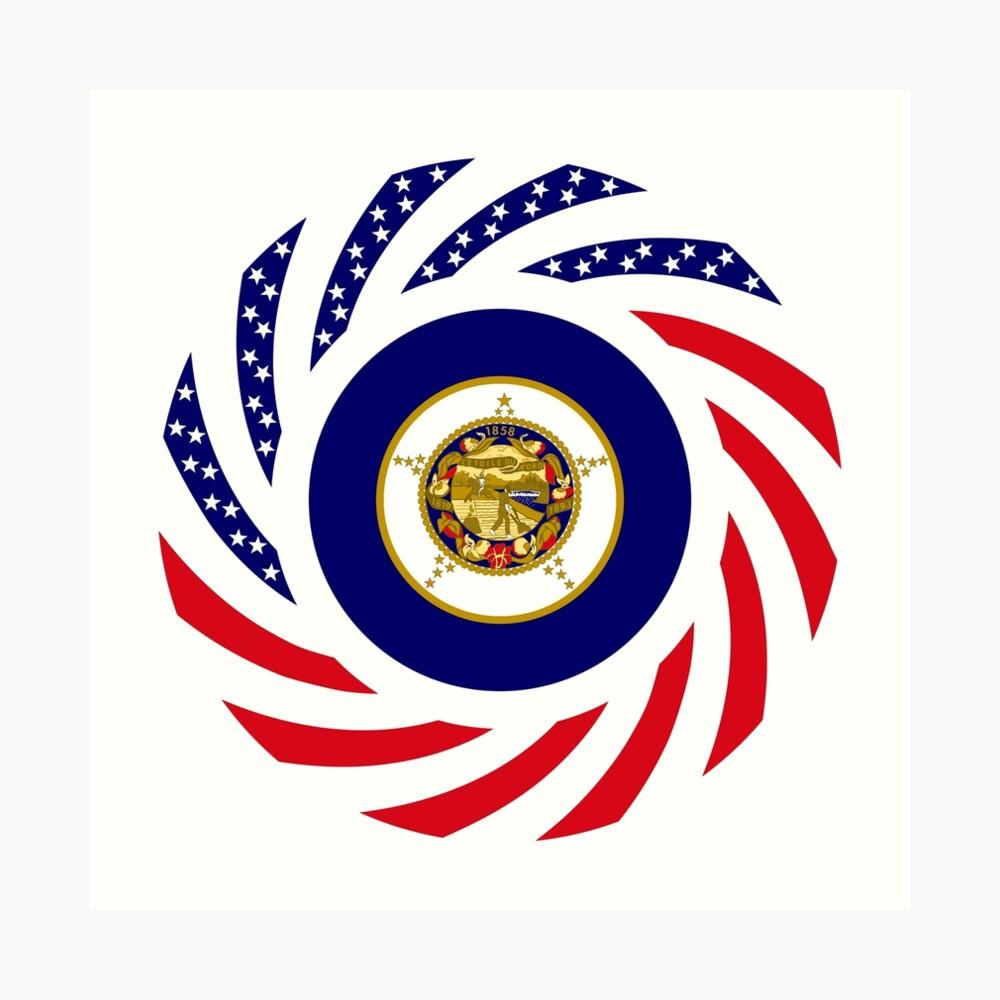 Minnesota Murican Patriot Flag Series Art Print