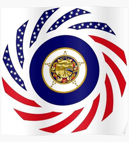 Minnesota Murican Patriot Flag Series Poster