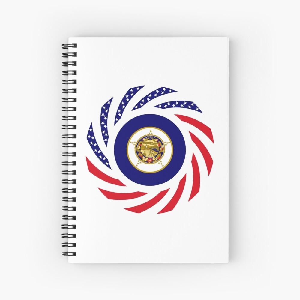 Minnesota Murican Patriot Flag Series Spiral Notebook