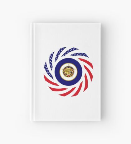 Minnesota Murican Patriot Flag Series Hardcover Journal
