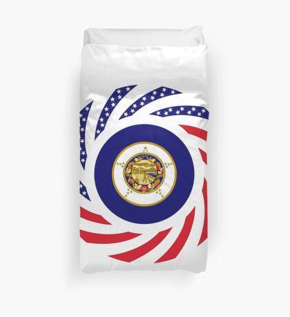 Minnesota Murican Patriot Flag Series Duvet Cover