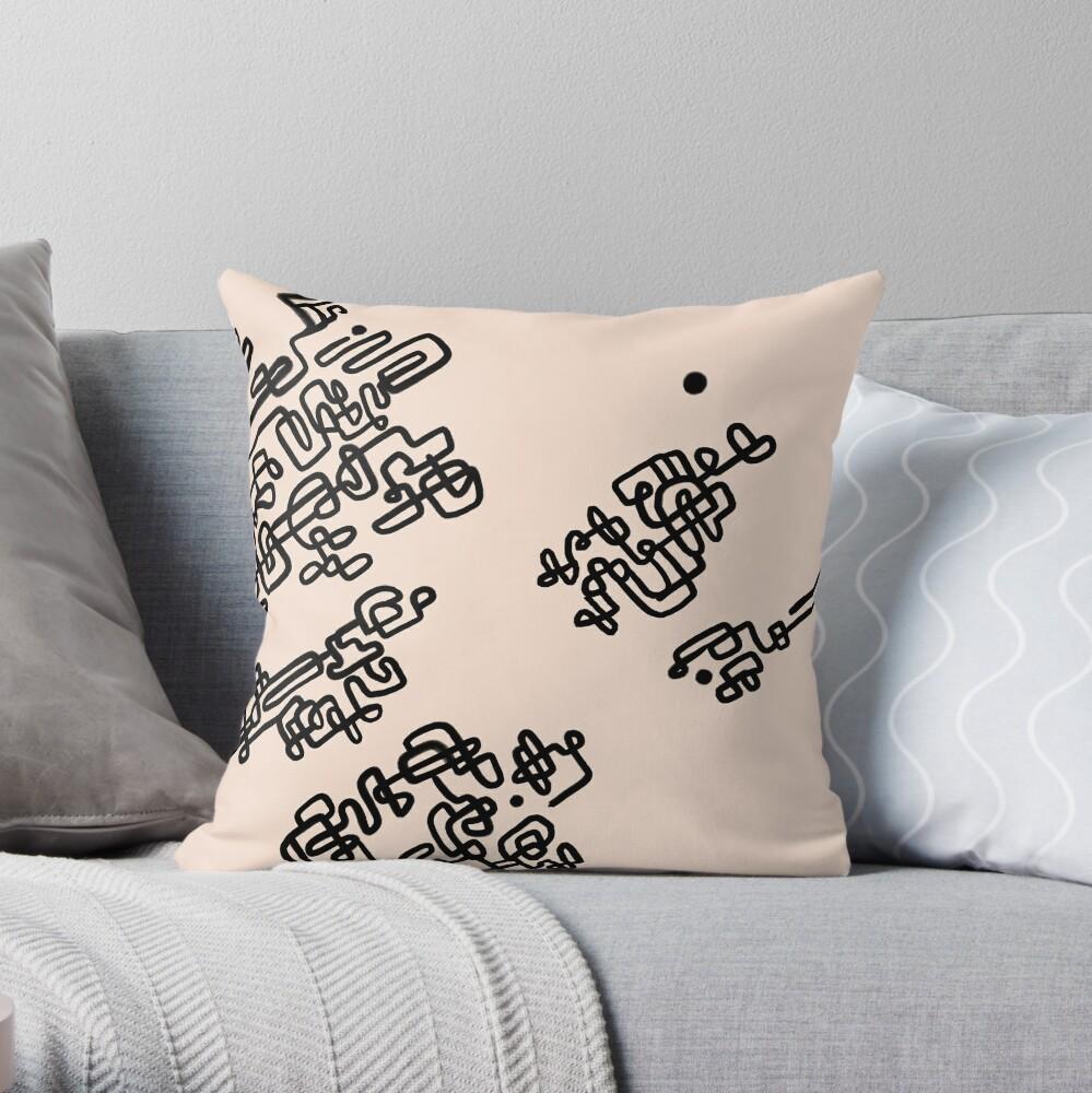 Engrave Throw Pillow