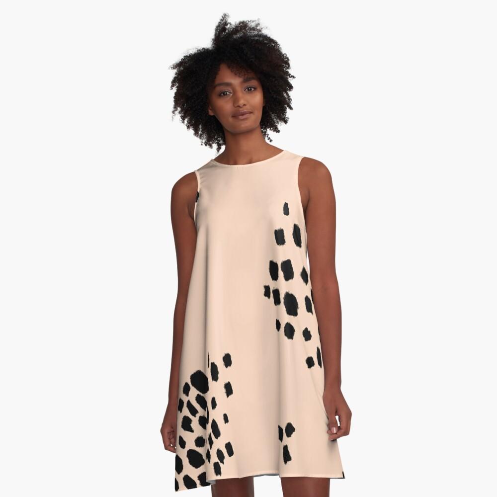 Milk Tea with Boba A-Line Dress