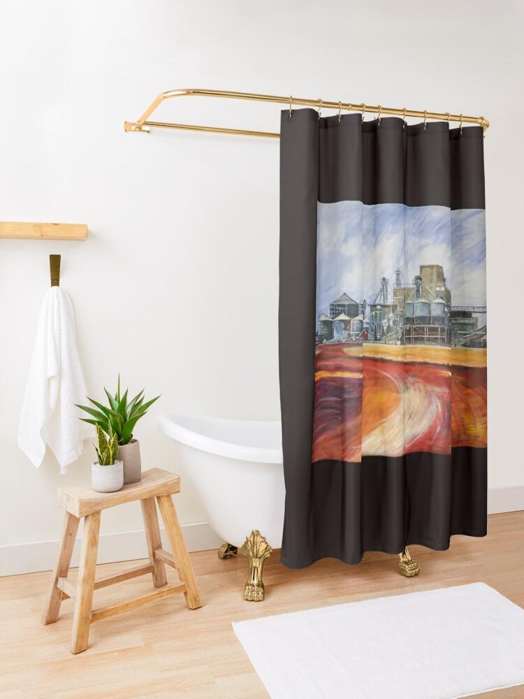 Alternative Ansicht von Hafer mahlen - Unigrain Wagin Duschvorhang