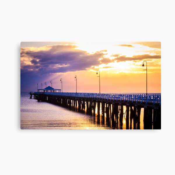 Pier in the Pink Canvas Print