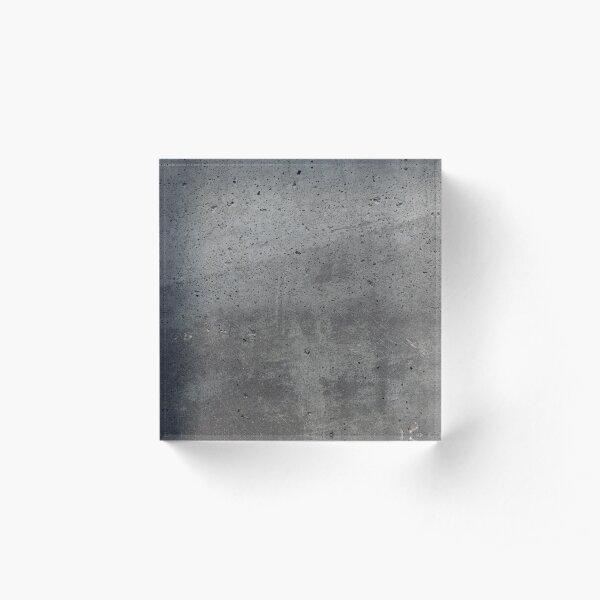 Grey textured concrete wall exterior Acrylic Block