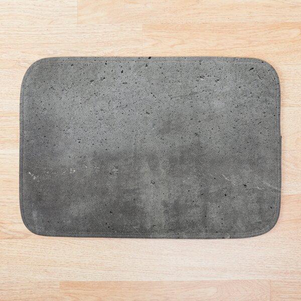 Grey textured concrete wall exterior Bath Mat