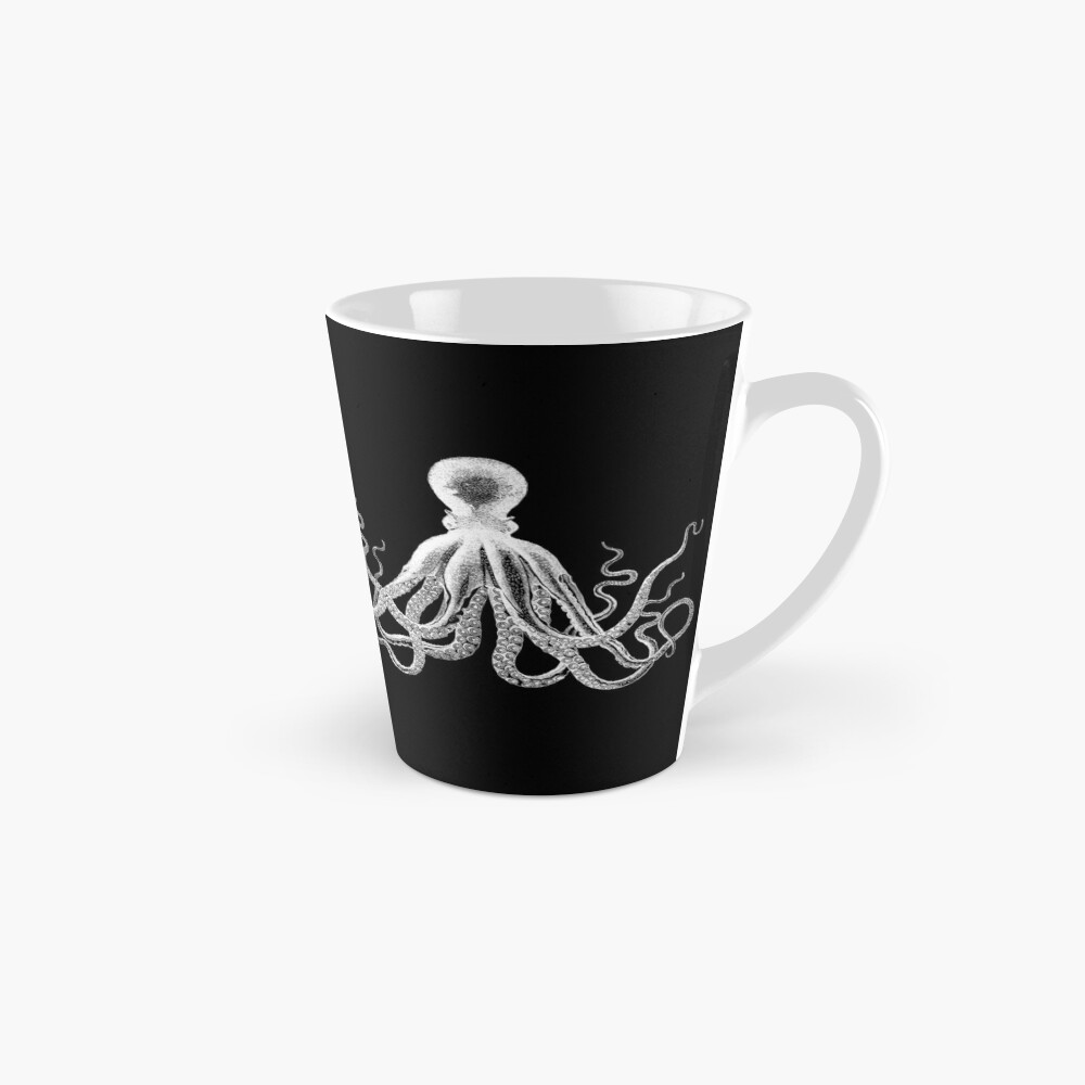 Octopus | Vintage Octopus | Tentacles | Sea Creatures | Nautical | Ocean | Sea | Beach | Black and White |  Tall Mug