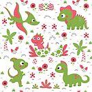 cute dinosaurs pattern design by Angela Sbandelli