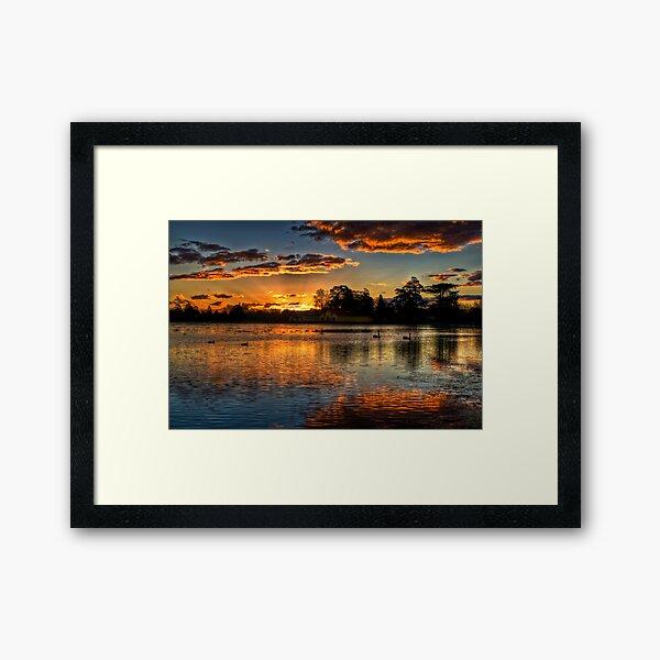 Sunset over Lake Wendouree Framed Art Print