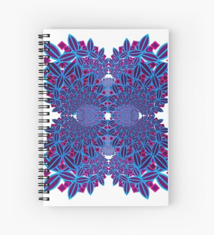 Flower fractal Spiral Notebook