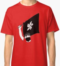 Hong Kong Protests, Stop Killing us, the protester raises the flag Classic T-Shirt