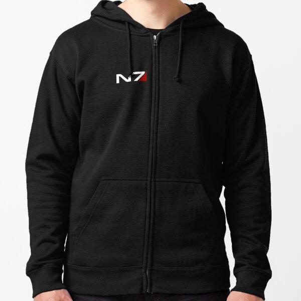 N7 emblem, Mass Effect Zipped Hoodie
