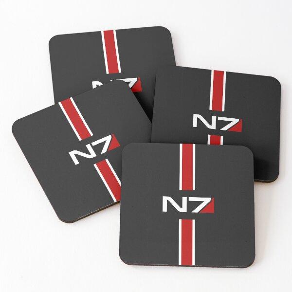 N7 emblem, Mass Effect Coasters (Set of 4)