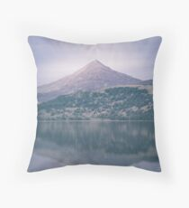 The Attraction Of Mountains by Cat Burton Throw Pillow