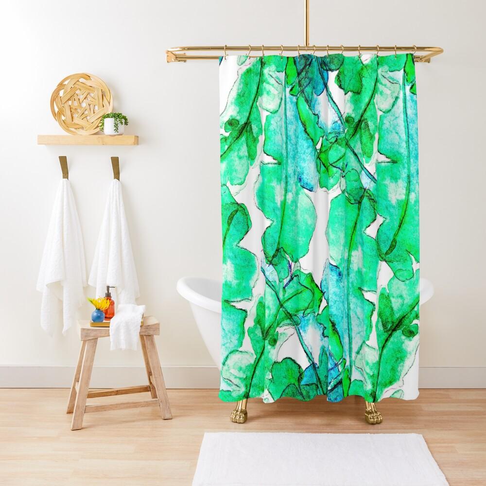 Bananen Blätter Tropisch Duschvorhang