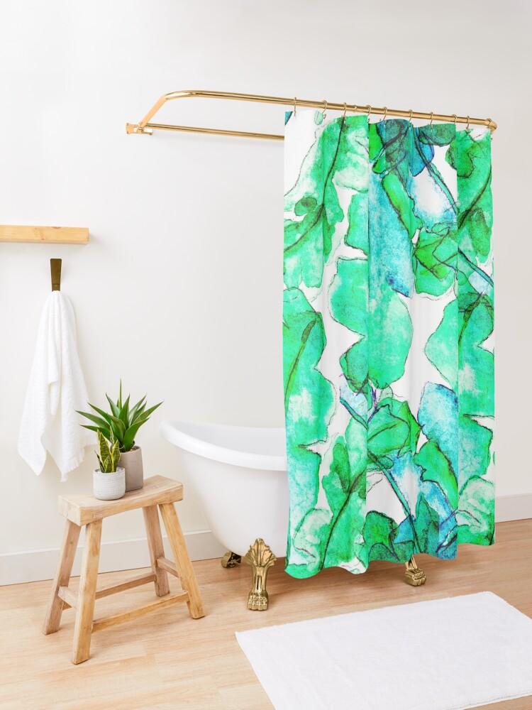 Alternative Ansicht von Bananen Blätter Tropisch Duschvorhang