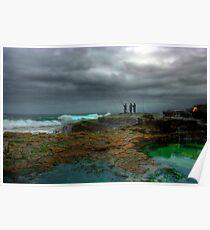Three Fishermen - Garie Beach, Sydney Royal National Park, NSW Poster