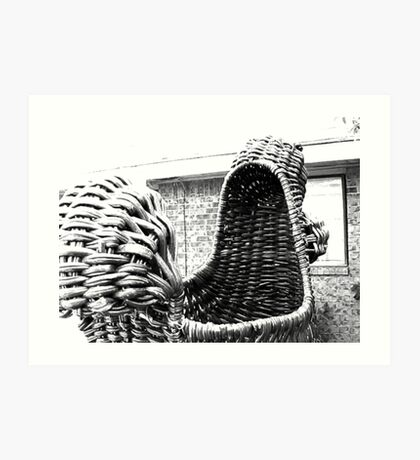 Giant Wicker Squirrel Attacks House Art Print