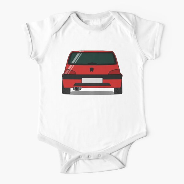 Peugeot 106 GTI - Cherry Red Short Sleeve Baby One-Piece