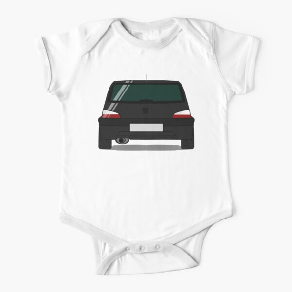Peugeot 106 GTI - Onyx Black Short Sleeve Baby One-Piece