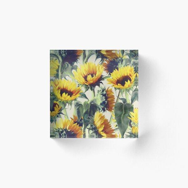 Sunflowers Forever Acrylic Block